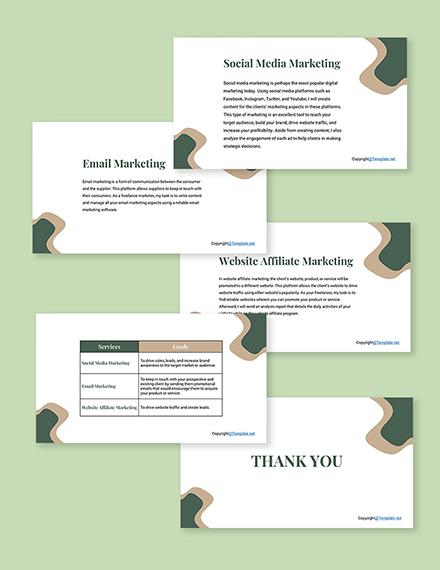 Free Freelance Presentation Template Format