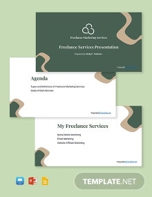Free Freelance Presentation Template