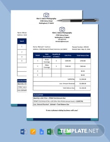 Freelance Services Receipt Template