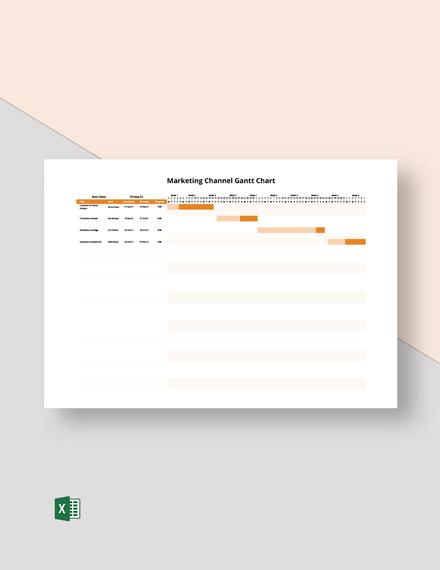 Marketing Channel Gantt Chart Template