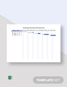 Marketing Communication Plan Gantt Chart Template