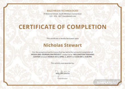 Free Project Completion Certificate Template: Download 200+ ...