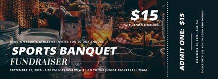 Sports Banquet Ticket Template