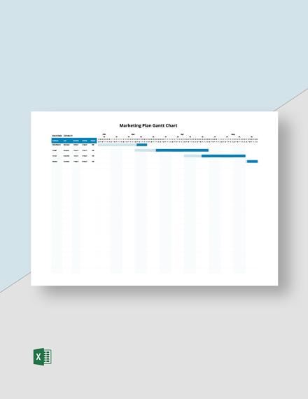 Marketing Plan Gantt Chart Template