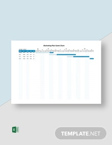 Marketing Plan Gantt Chart Template