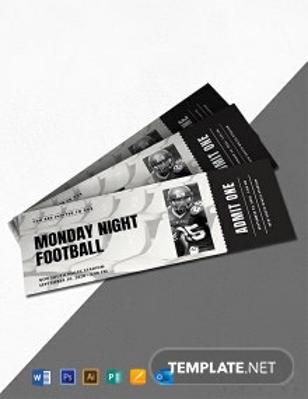 Free Sports Ticket Invitation Template