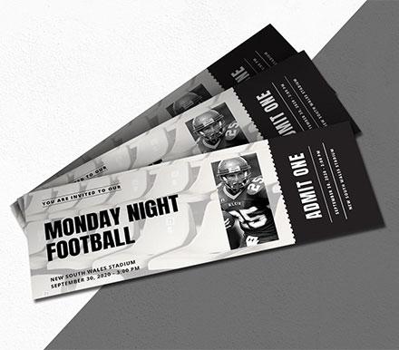 Sports Ticket Invitation Template