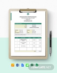Freelance Service Invoice Template