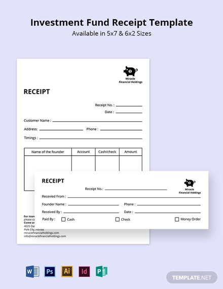 Free Investment Fund Receipt Template
