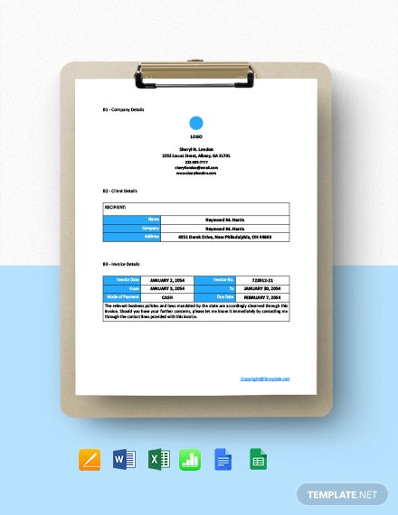 Free Blank Freelance Invoice Template