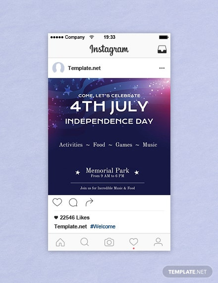Free 4th of July Instagram Post Template