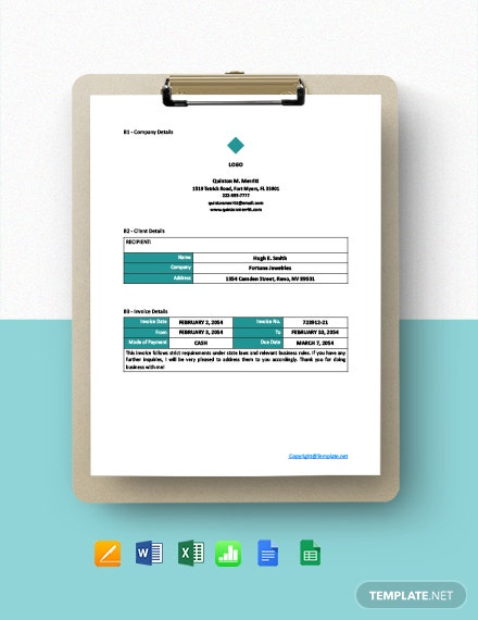 Free Sample Freelancer Invoice Template