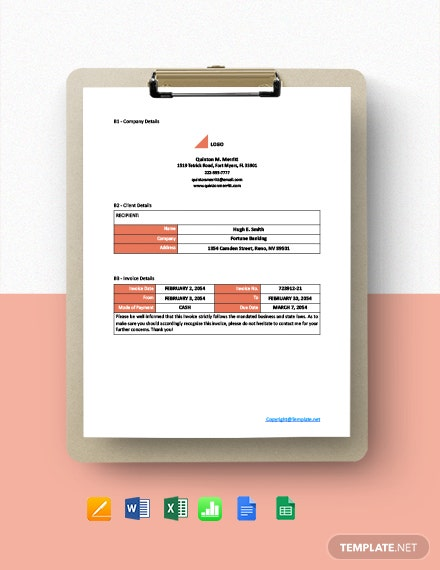 Free Simple Freelance Invoice Template