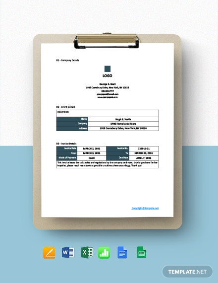 Free Sample Freelance Invoice Template
