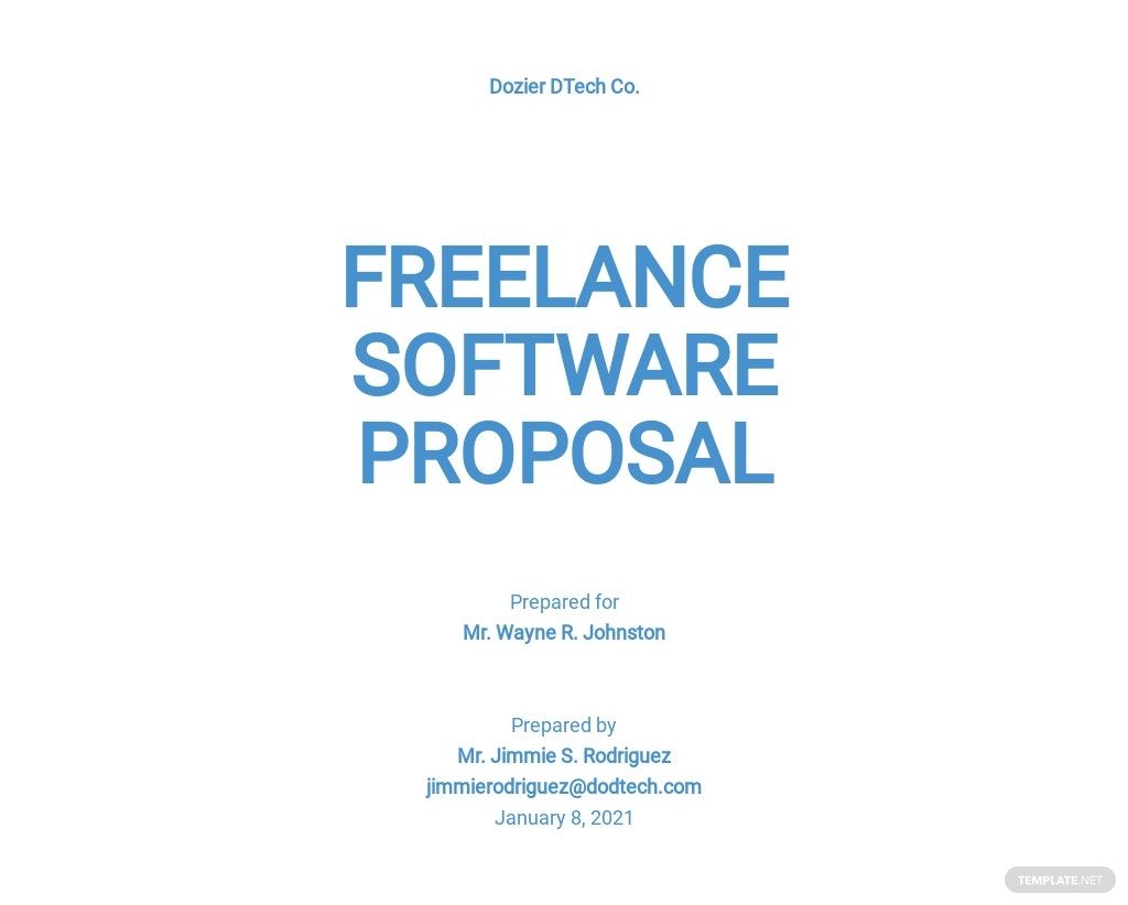 Freelance Software Proposal Template