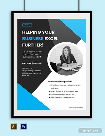 Freelance Advertisement Poster Sample