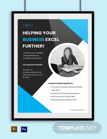 Freelance Advertisement Poster Template