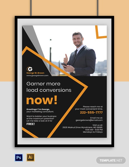 Freelance Marketing Poster Template