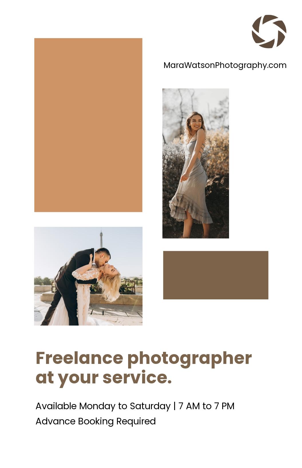 Freelance Photographer Poster Template