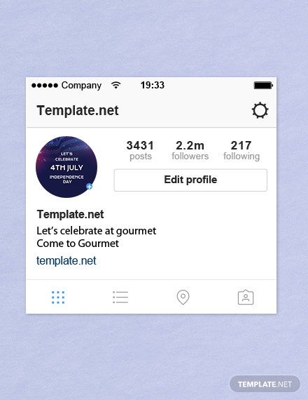 Free 4th of July Instagram Profile Photo