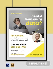 Freelance Service Poster Template