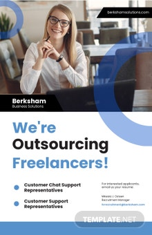 Freelancing and Outsourcing Poster Template