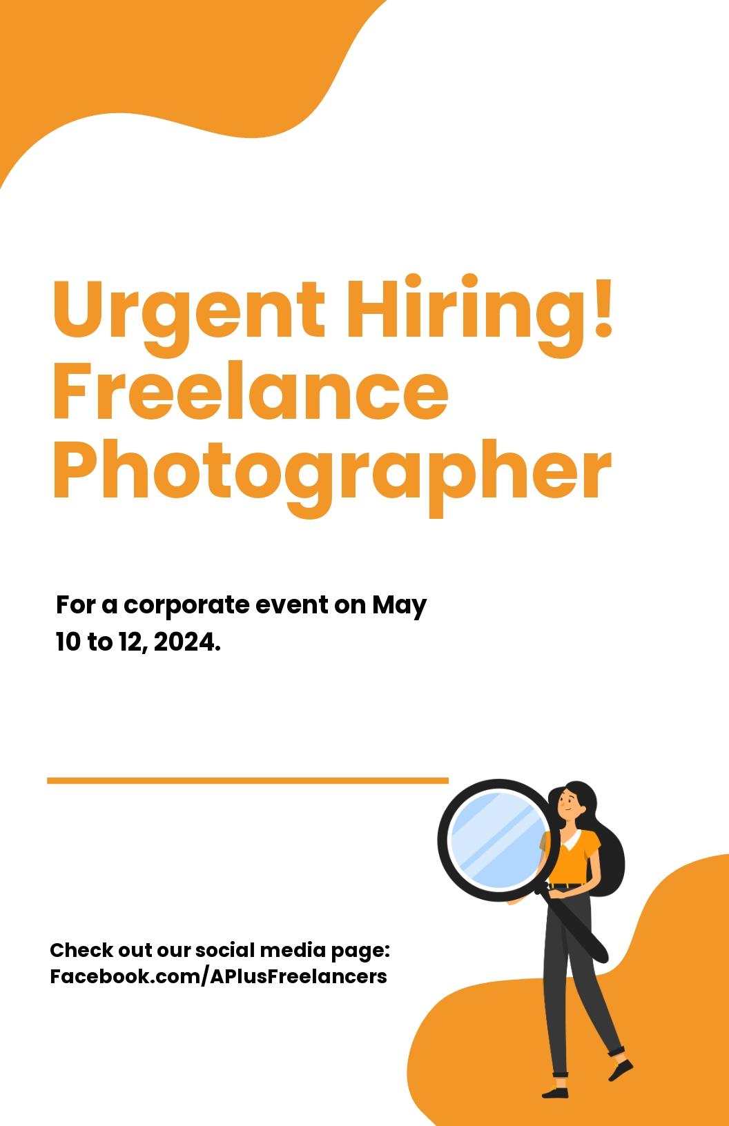 Freelance Job Poster Template