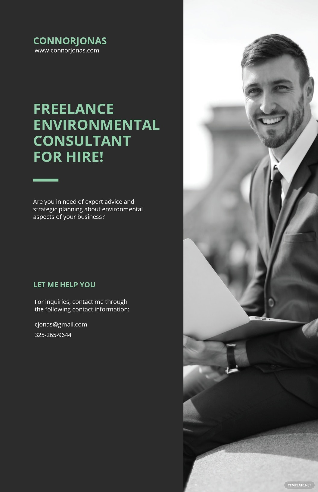Freelancer For Hire Poster Template