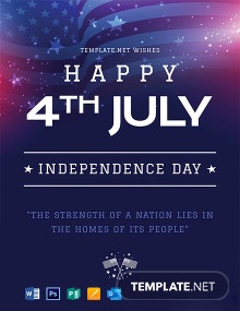 4th of July Greeting Card Template