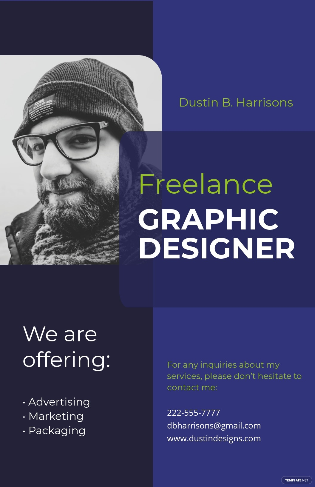 Simple Freelancer Poster Template