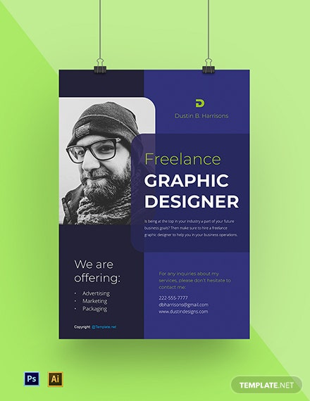 Free Simple Freelancer Poster Template