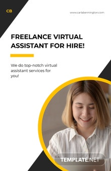 Free Creative Freelance Poster Template