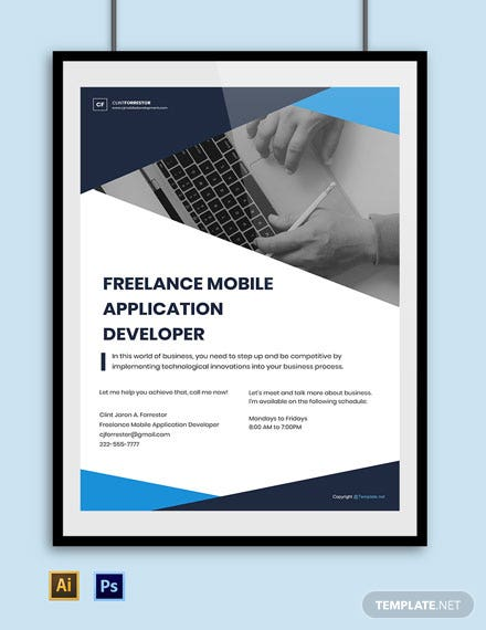 Free Freelance Poster Template