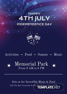 4th of July Invitation Template