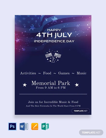 Free 4th of July Invitation Template