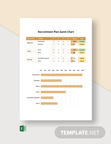 Recruitment Plan Gantt Chart Template