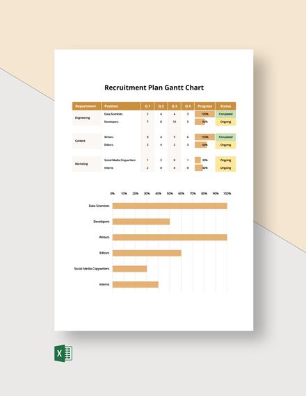 Recruitment Plan Gantt Chart Template