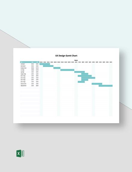 UX Design Gantt Chart Template