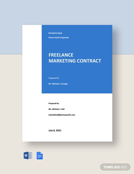 Freelance Marketing Contract Template