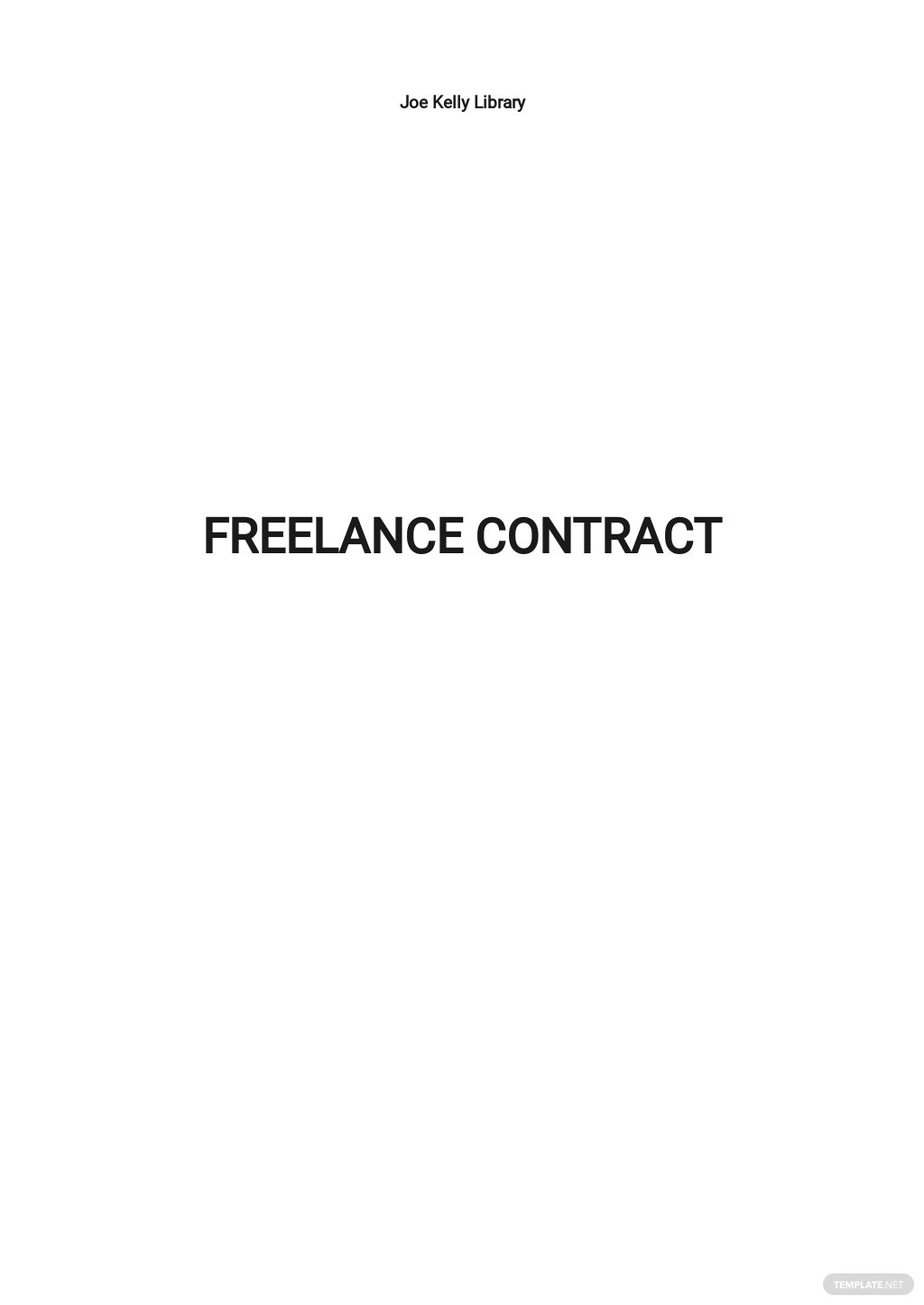 Free Simple Freelance Contract Template.jpe