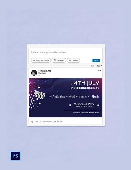 Free 4th of July LinkedIn Blog Post