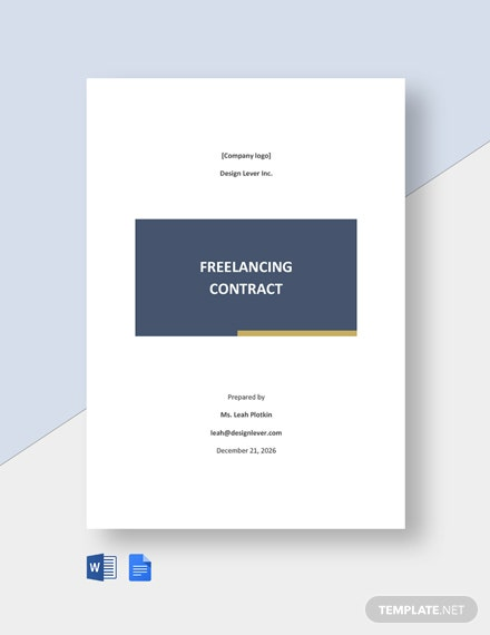 Freelancing Contract Template