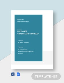 Freelance Consultant Contract Template