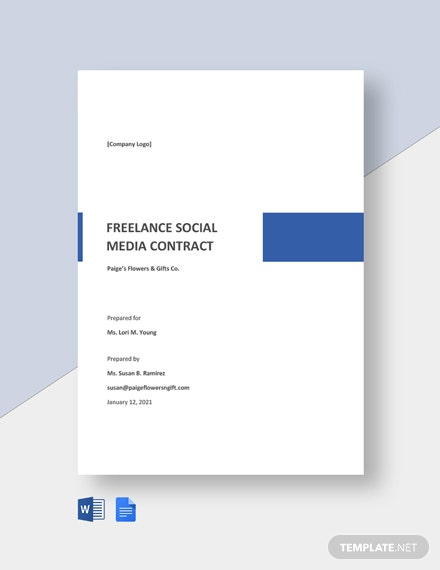 Freelance Social Media Contract Template