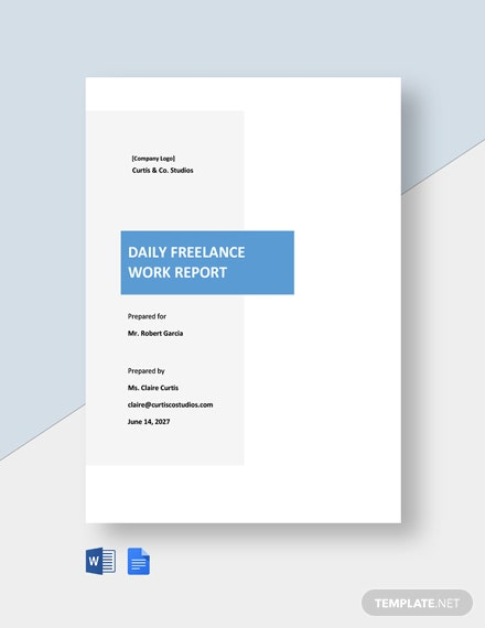 Daily Freelance Work Report Template