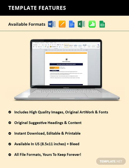 Freelance Service Quotation Template format