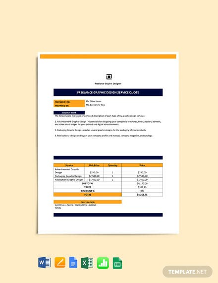 Freelance Service Quotation Template