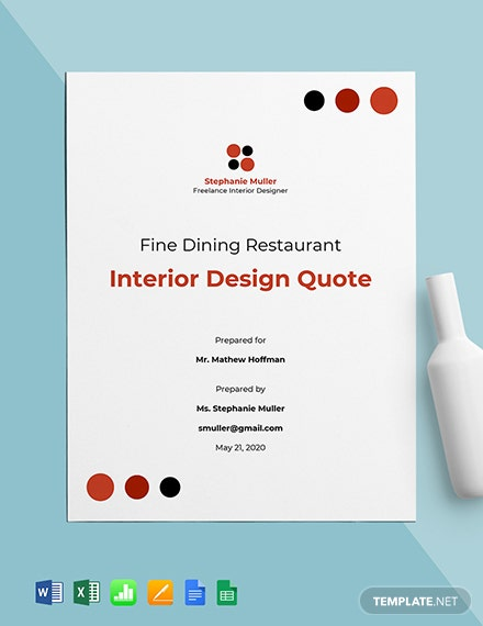 Freelance Designer Quotation Template