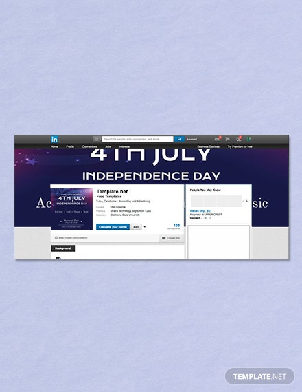 Free 4th of July LinkedIn Profile Banner