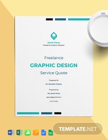 Freelance Graphic Design Quote Template